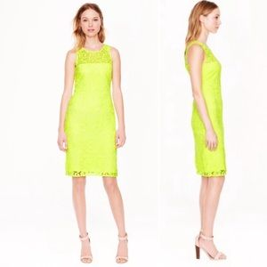 J Crew Collection | Lace Dress Neon Yellow Size 0